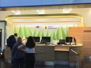 bureau information aéroport Vienne